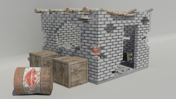 free war ruin 3d model