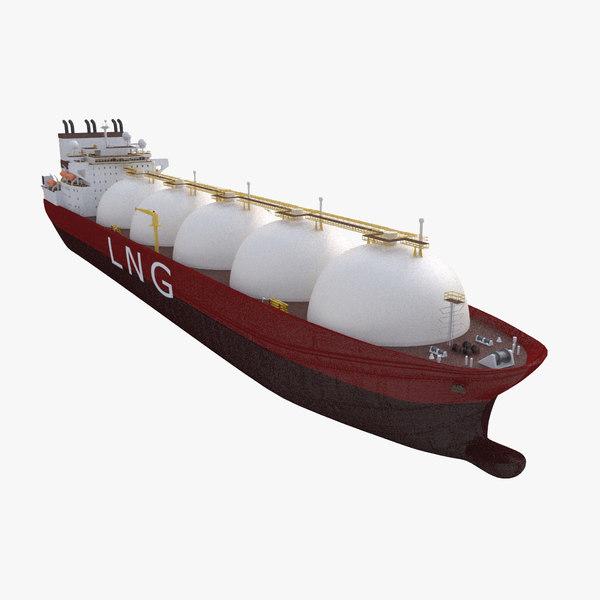 lng carrier 3d model