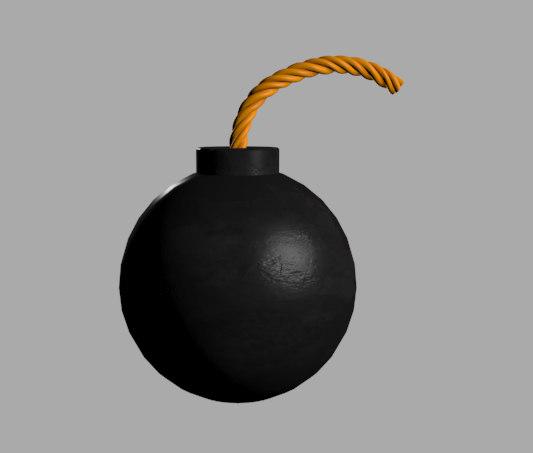 maya cartoon bomb
