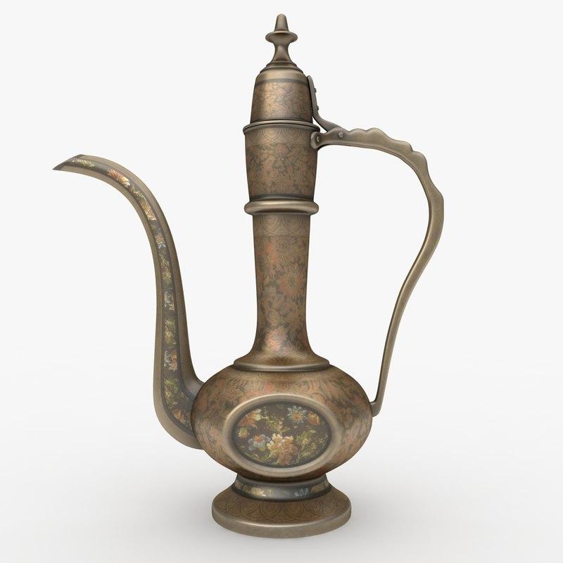 antique teapot 3d obj