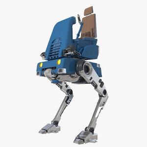 3d sci-fi walker