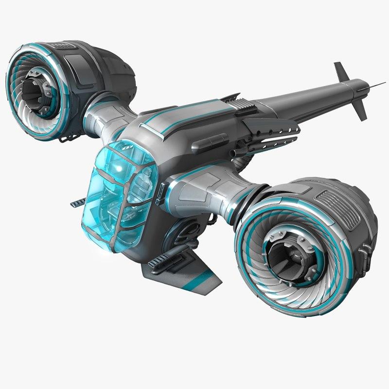 3d fi fighter model