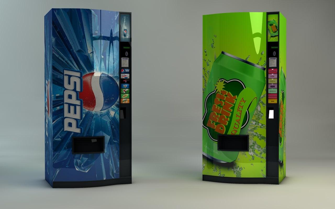 3d drink automat model