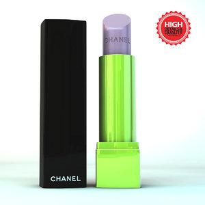 3d model lipstick modeled make