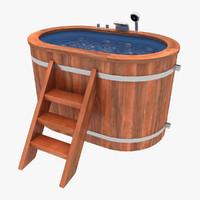 baptistery wood 3d model