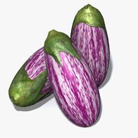 aubergine eggplant ratatouille obj