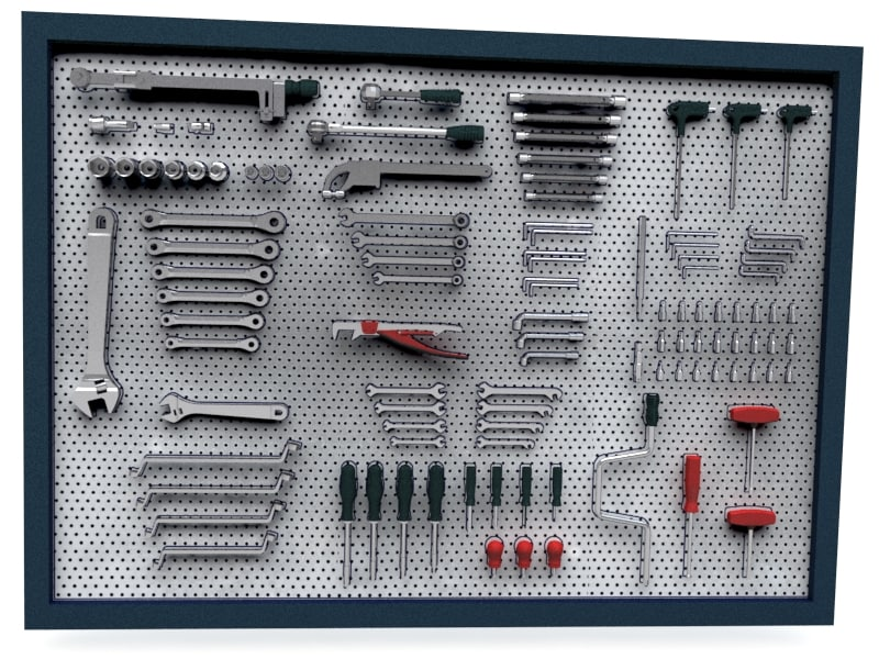 3d model panel tools