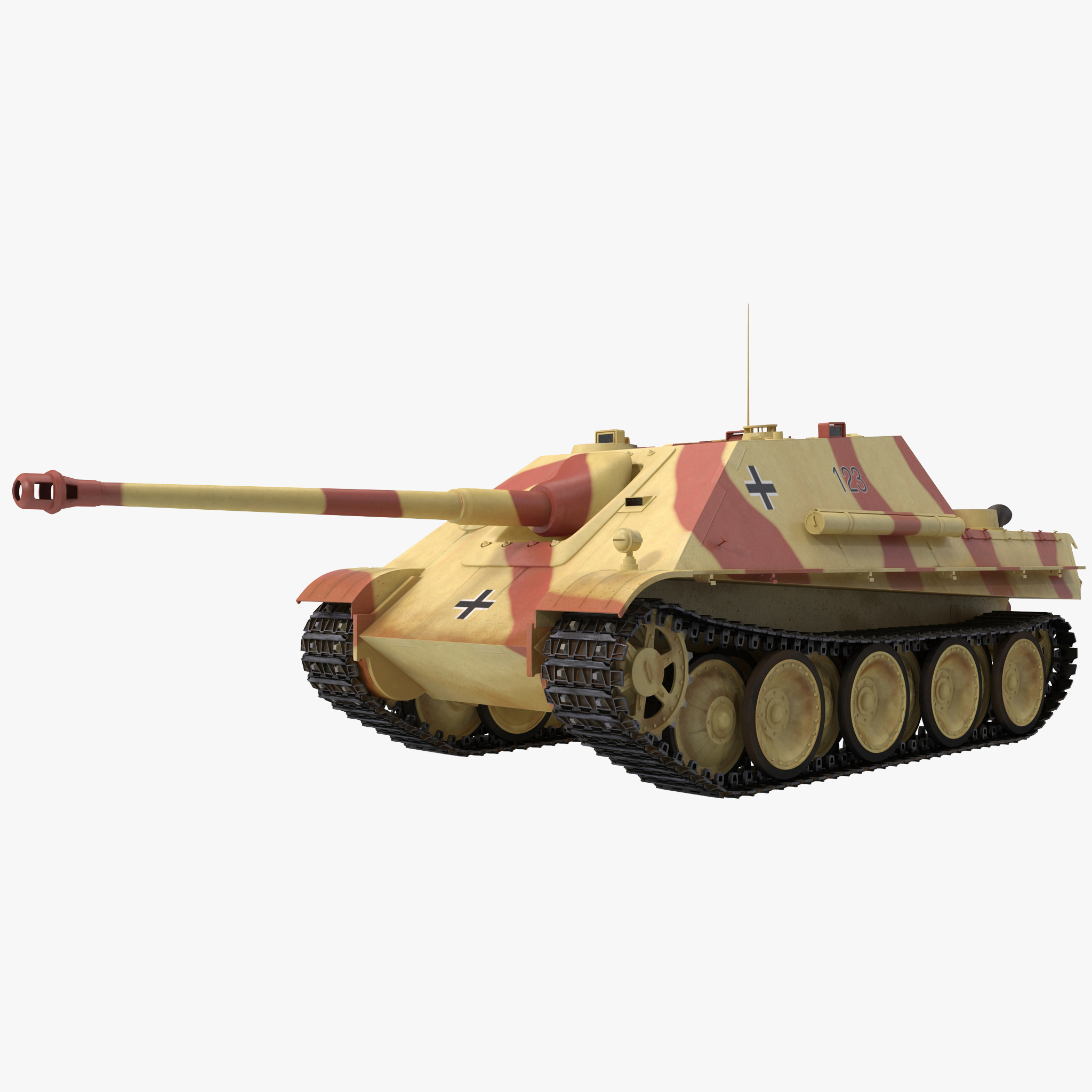 jagdpanther germany wwii tank destroyer 3d model