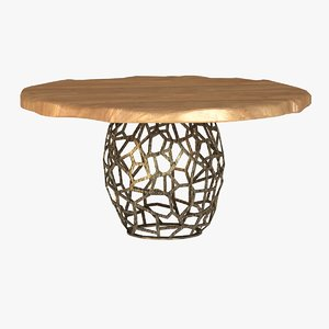 3d wood table