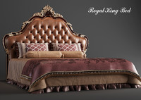 3d model royal king bed