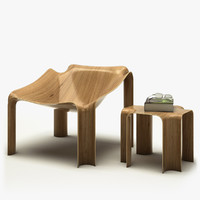 3d model chair table pierre -