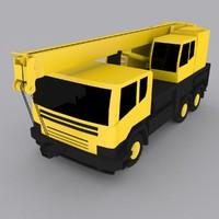mobile crane 1035 3d max