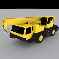 mobile crane 1030 3d max