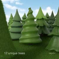 3d ma toon tree