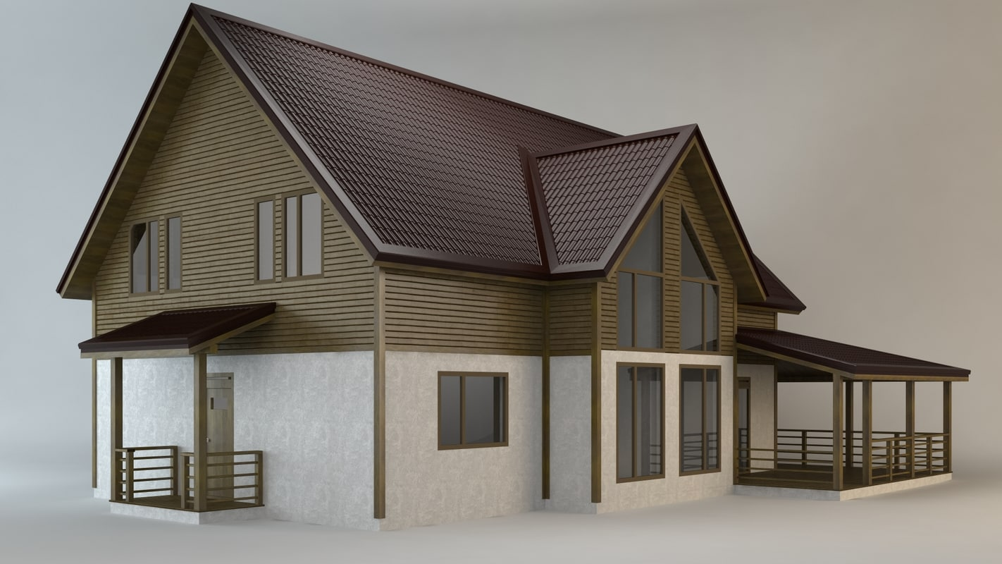 cottage 3d max