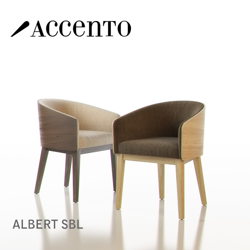 accento albert sbl chairs 3d 3ds