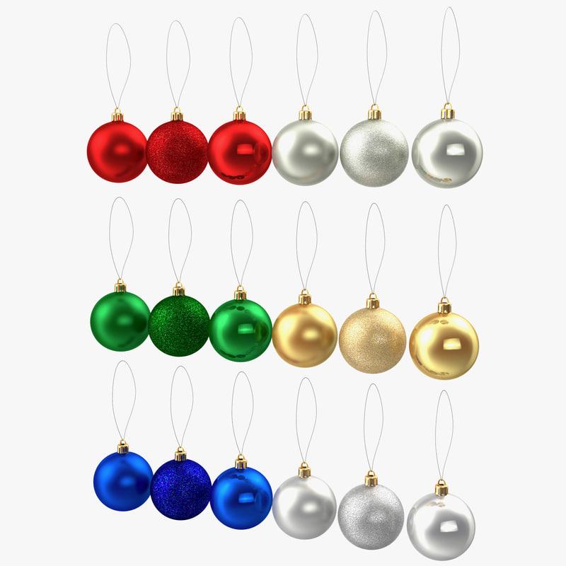 christmas ornaments 3d max