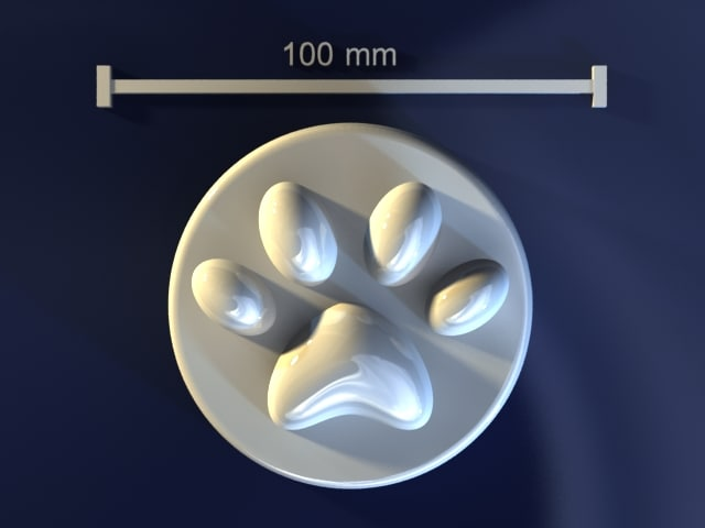 3d paw mould hand model