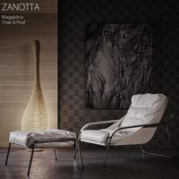 Zanotta Maggiolina Chair & Pouf