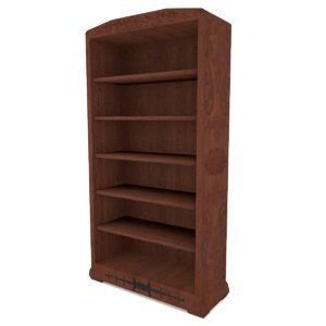 3d model bookcase ready
