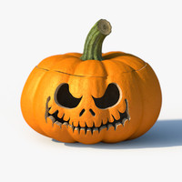 3d model of jack-o-lantern pumpkin