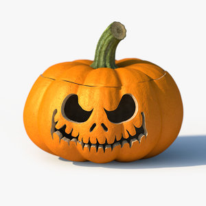 3d model of jack-o-lantern pumpkin