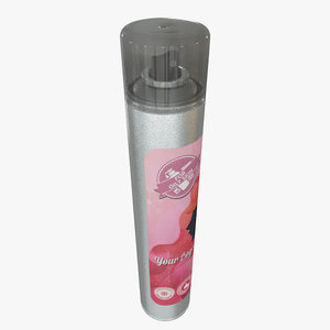 cosmetic hair spray bottle 3d obj