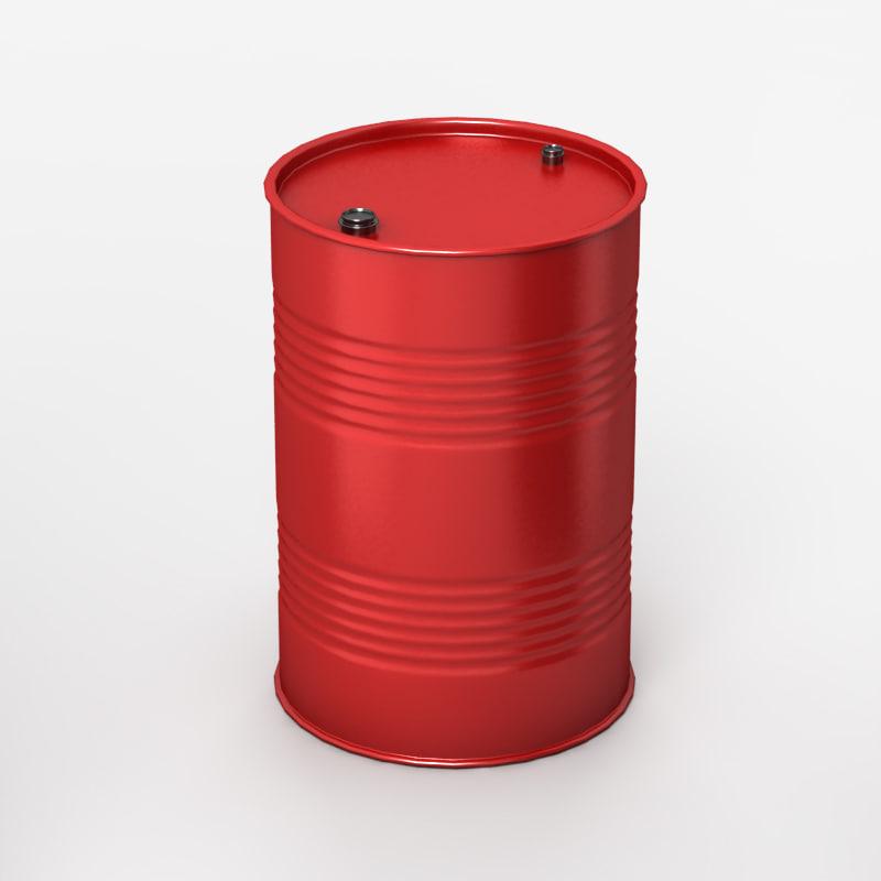 industrial barrel 3d model