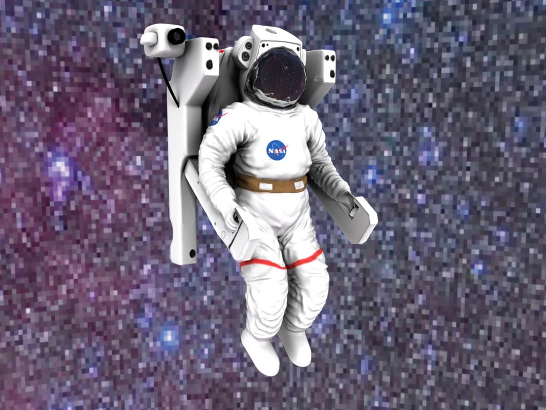 3d astronaut medpoly