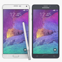 Samsung Galaxy Note 4 Black And White