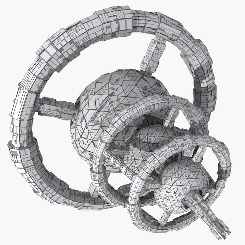 space station mht-03 3d model