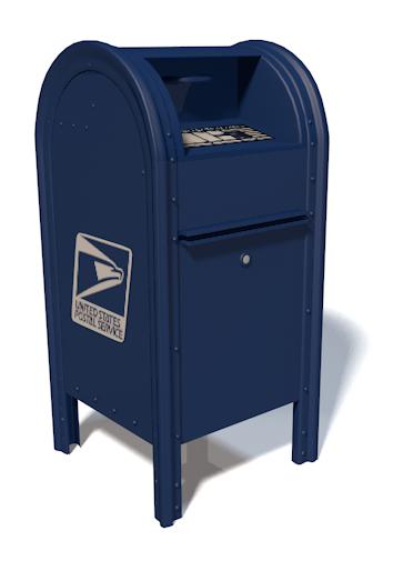 usps mailbox box 3d c4d