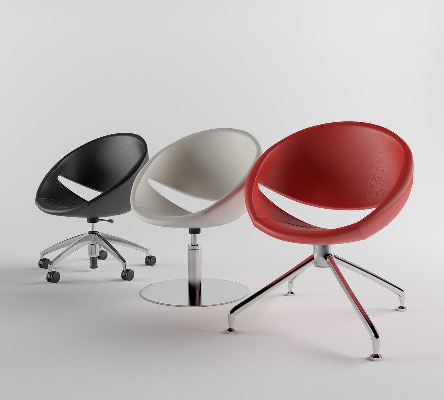3d armchair aresline mya model