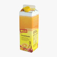 3d juice carton model