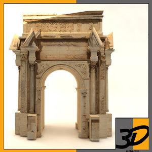 3d roman ruins