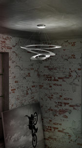 3d model artemide pirce suspension 3