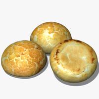 crusty roll 3d model