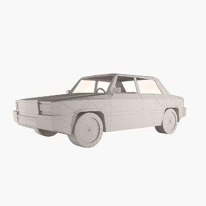 3d simple vehicle v2 sedan