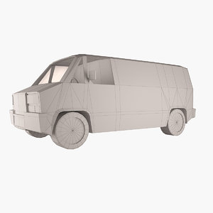 simple vehicle van 3d model