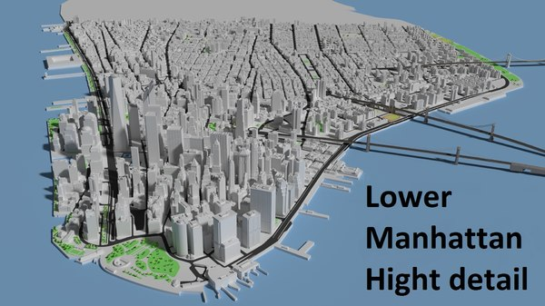 3d max lower manhattan island