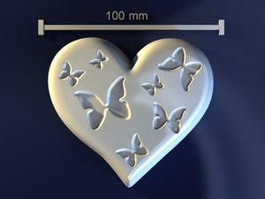 3d love mould hand model