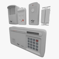 wireless alarm skylink sc-1000 3d 3ds