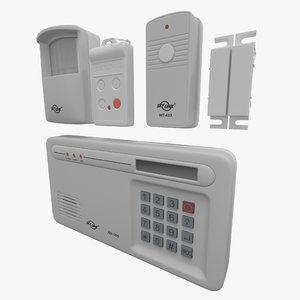 wireless alarm skylink sc-1000 3d 3ds