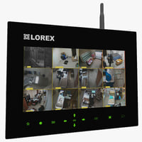 3d model wireless security lcd monitor