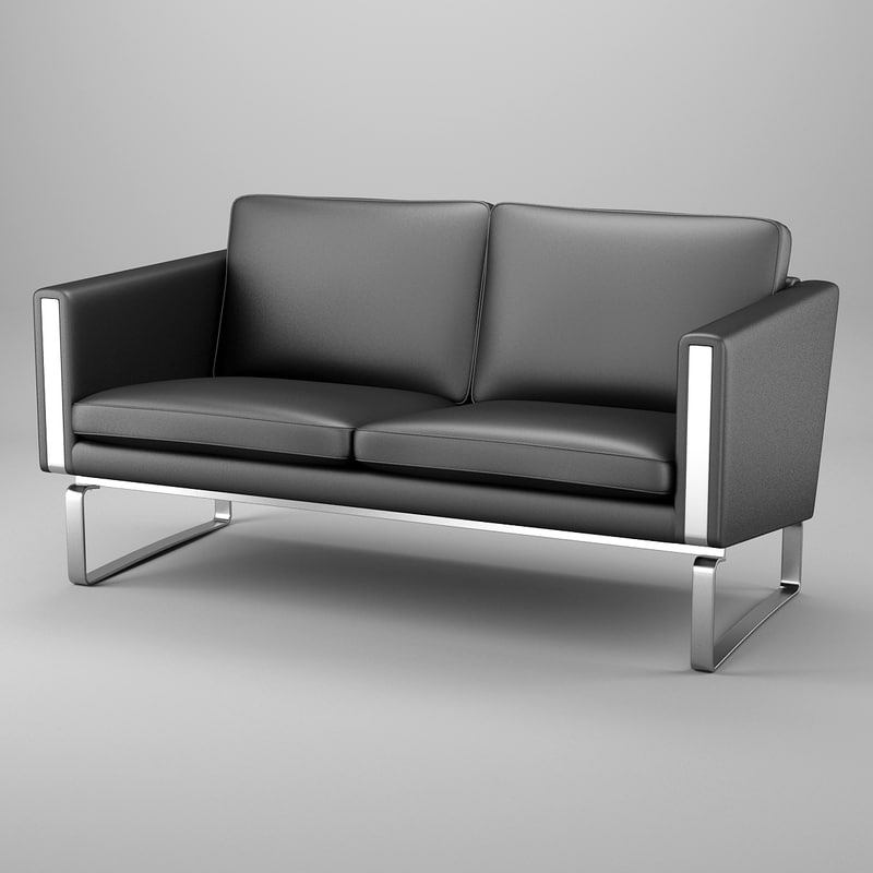 sofa hans j wegner 3d model