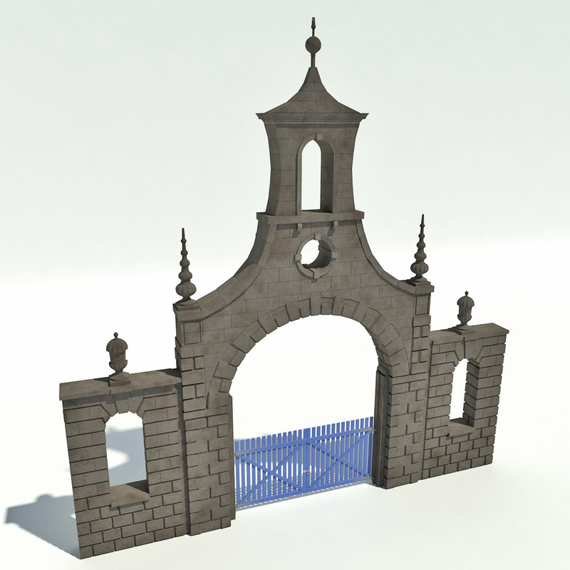 3d model archway gate