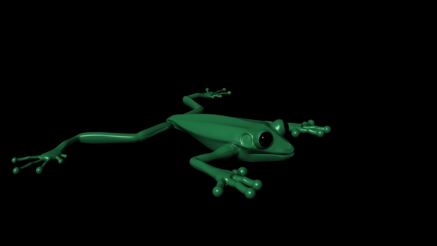 tree frog obj
