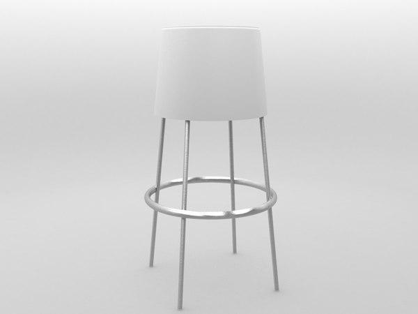 max stool white plastic