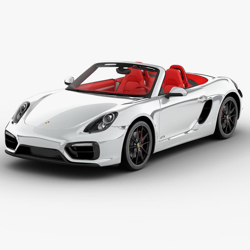 Porsche Boxster Gts 2015 3d Max