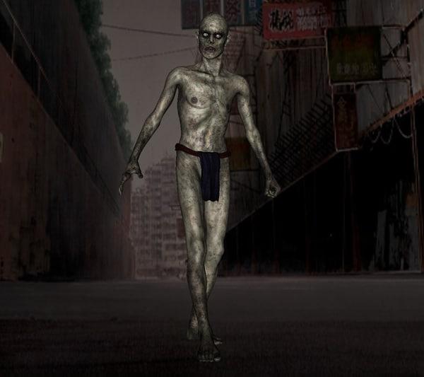 zombie male 3d model